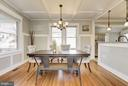 Dining room with windows all around - 4115 10TH ST NE, WASHINGTON
