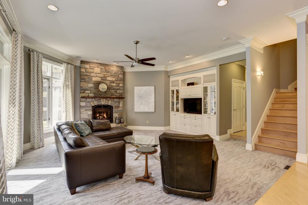 Family Room w/ Custom Built-ins - 8544 LEISURE HILL DR, BALTIMORE