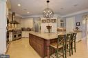 Gourmet Kitchen w/ Breakfast Bar - 8544 LEISURE HILL DR, BALTIMORE