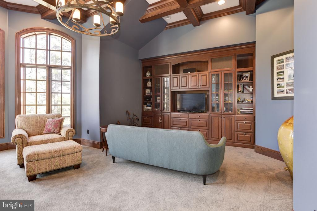 Library / Study  W/ Custom Built-ins - 8544 LEISURE HILL DR, BALTIMORE