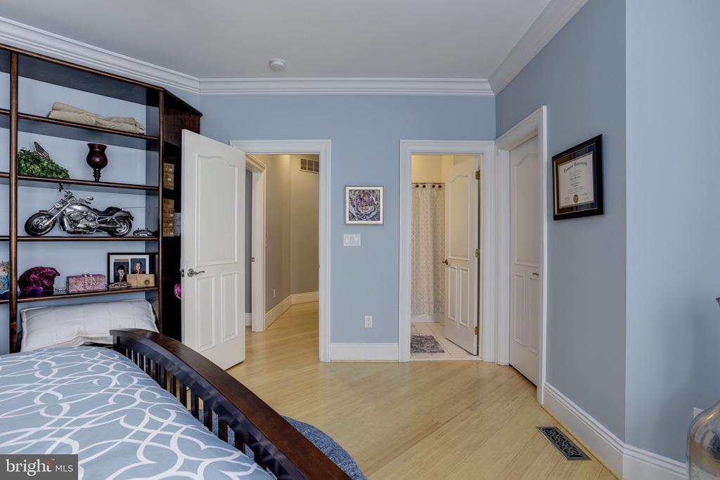Bedroom en-suite #4 w/ Custom Built-ins - 8544 LEISURE HILL DR, BALTIMORE