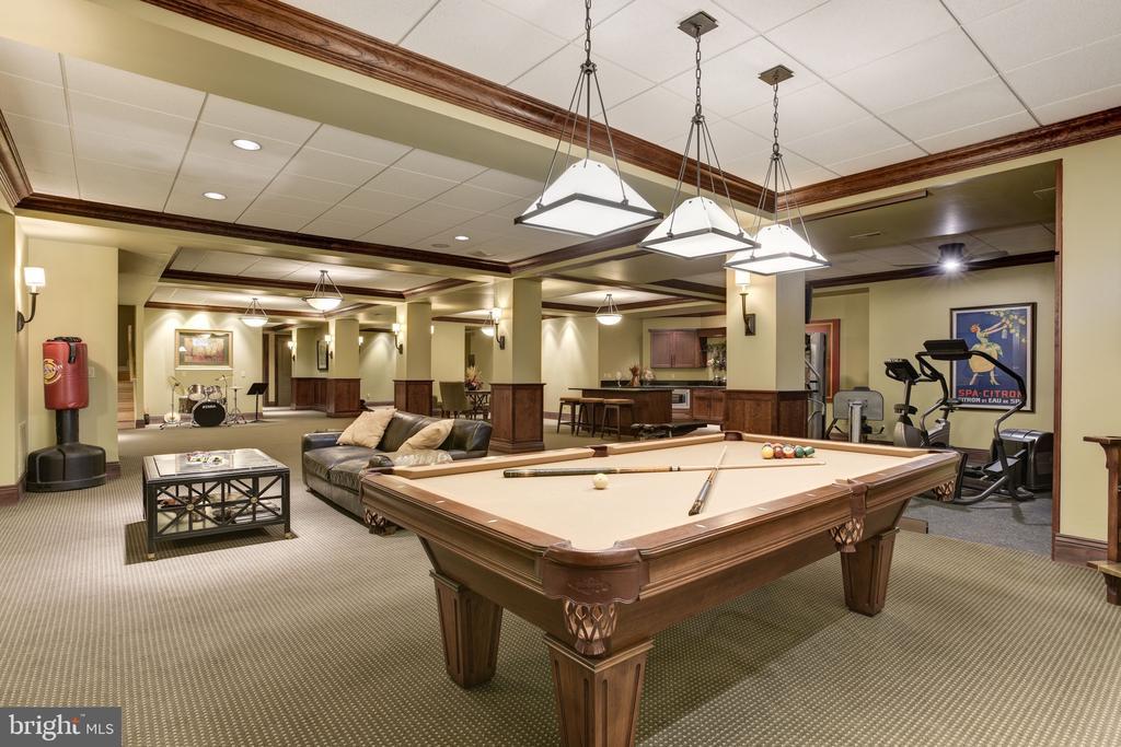 Lower Level Billiard Room - 8544 LEISURE HILL DR, BALTIMORE
