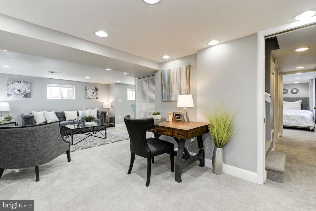 Fully finished lower level - 4115 10TH ST NE, WASHINGTON