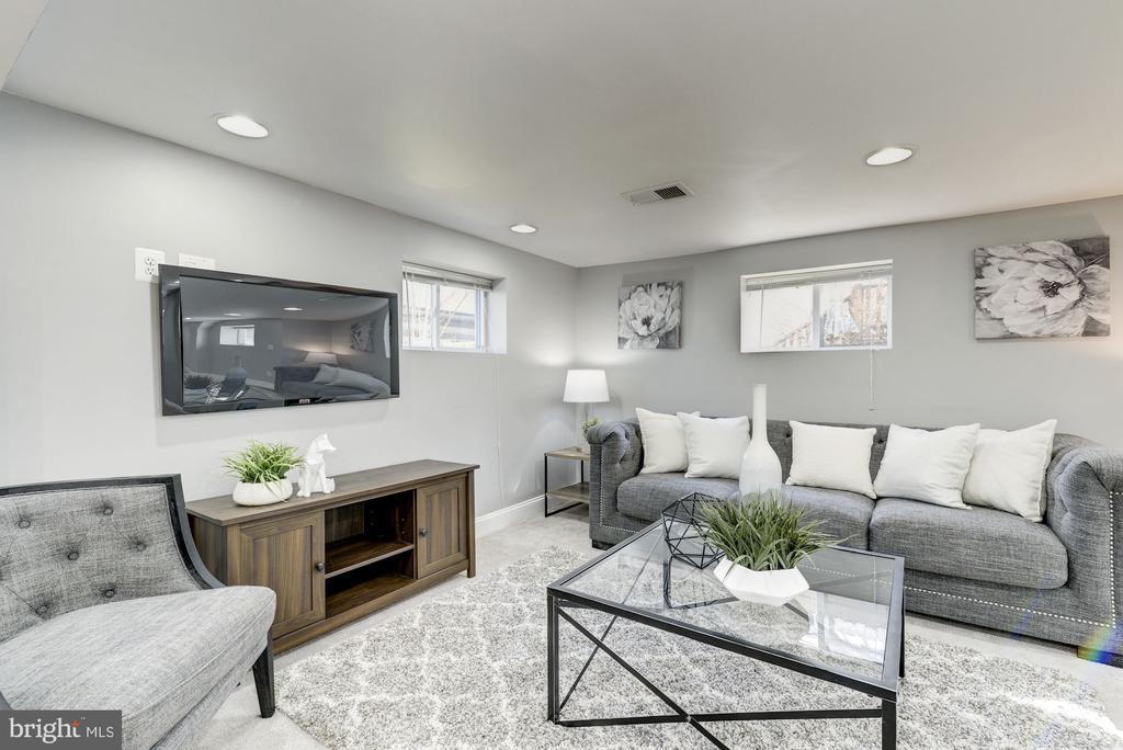 Lower Level living rom - 4115 10TH ST NE, WASHINGTON