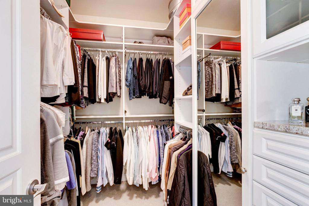 Large custom walk-in closet. One of two! - 1419 N NASH ST, ARLINGTON