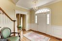 Stunning DETAIL throughout starting with the Foyer - 1114 ROUND PEBBLE LN, RESTON