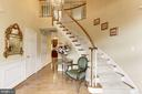 Dramatic 2-story Foyer w/curved staircase - 1114 ROUND PEBBLE LN, RESTON