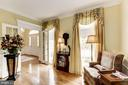 Hardwoods and floor to ceiling windows in Library - 1114 ROUND PEBBLE LN, RESTON