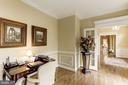 French doors flank the opening to the Foyer - 1114 ROUND PEBBLE LN, RESTON