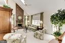 Floor to ceiling Fireplace enhances beautiful FR - 1114 ROUND PEBBLE LN, RESTON