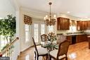 Lovely breakfast area with French doors to patio - 1114 ROUND PEBBLE LN, RESTON