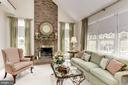 Gas, Brick Fireplace has mantle and glass doors - 1114 ROUND PEBBLE LN, RESTON