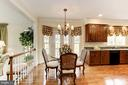 Spacious and bright Breakfast area with hardwoods - 1114 ROUND PEBBLE LN, RESTON