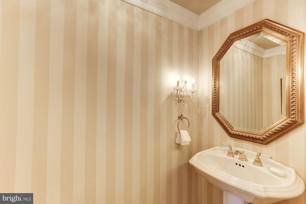 Elegant Powder Room with tile floors - 1114 ROUND PEBBLE LN, RESTON