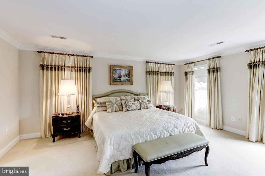 Walls of Windows enhance the Owner's Suite - 1114 ROUND PEBBLE LN, RESTON