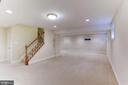Finished lower level has many windows and Walk-up - 1114 ROUND PEBBLE LN, RESTON