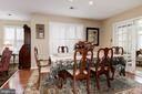 Plenty of room for dinner guests - 9802 PEPPERMILL PL, VIENNA