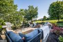 Stamped Concrete outdoor patio w/ built-in firepit - 20 PROSPECT DR, FREDERICKSBURG