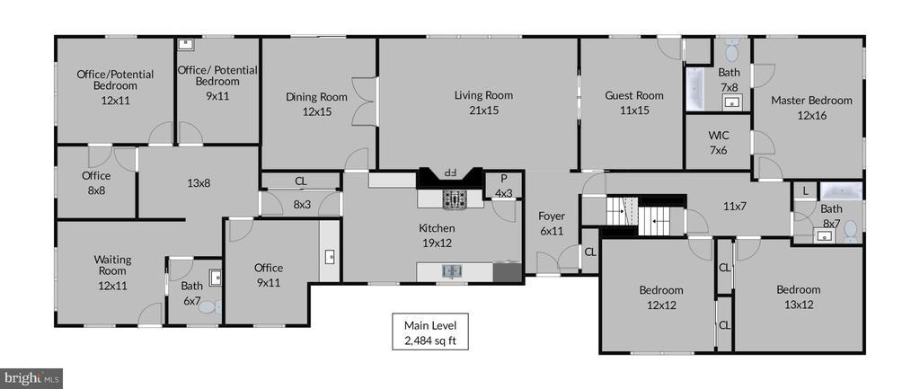 Main level floorplan - 9221 COLESVILLE RD, SILVER SPRING