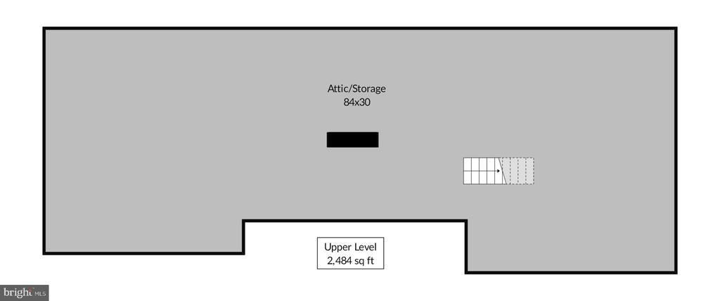 Attic floorplan - 9221 COLESVILLE RD, SILVER SPRING