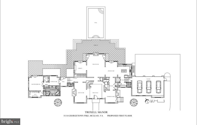 Floor Plan - Main Level - 8110 GEORGETOWN PIKE, MCLEAN