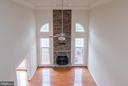 View of family room from upstairs overlook - 36895 LEITH LN, MIDDLEBURG