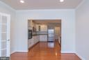 Lower level kitchen from DR open door to pantry - 36895 LEITH LN, MIDDLEBURG