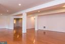 Lower level view from DR towards media/den  room - 36895 LEITH LN, MIDDLEBURG