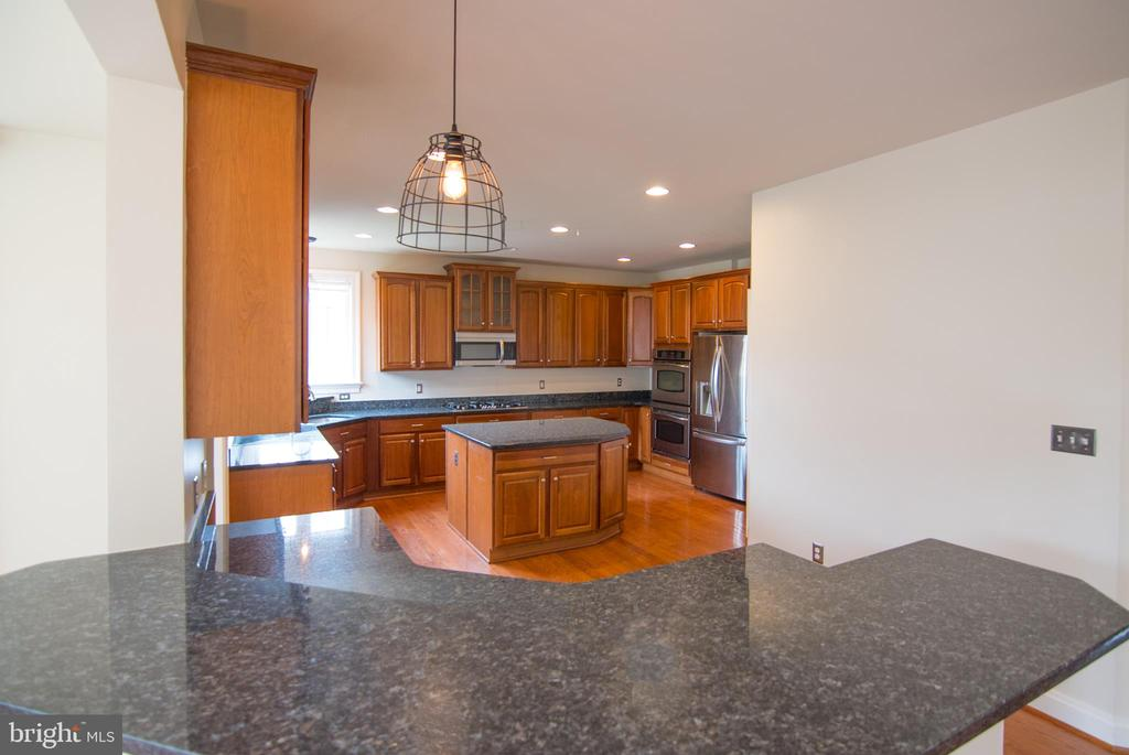 Breakfast bar view into kitchen - 36895 LEITH LN, MIDDLEBURG