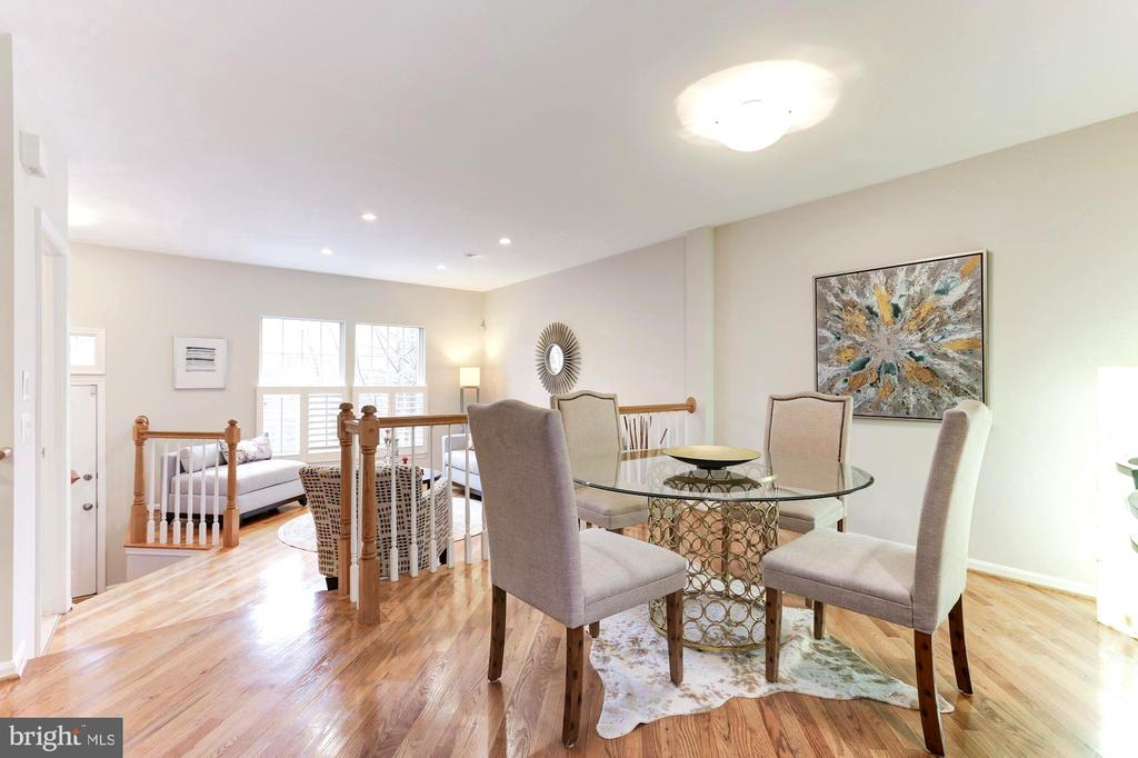 Spacious Dining room with Kitchen/Sunroom access - 1460 PARK GARDEN LN, RESTON