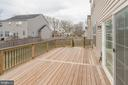 Deck view right and stairs down - 10283 SPRING IRIS DR, BRISTOW