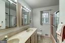 Dual sinks in Hall Bath - 9329 GLENBROOK RD, FAIRFAX