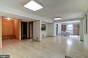 Large Recreation Room. Pergo floor. - 9329 GLENBROOK RD, FAIRFAX