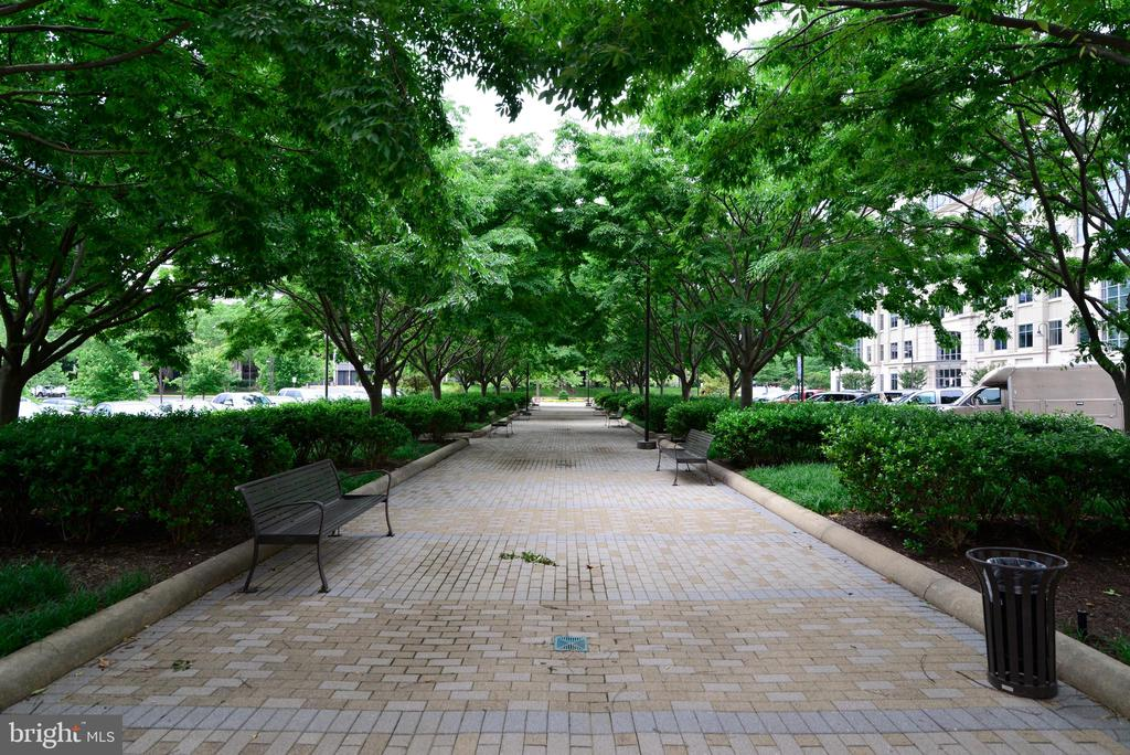 Walkway to building from the public parking - 11760 SUNRISE VALLEY DR #1014, RESTON