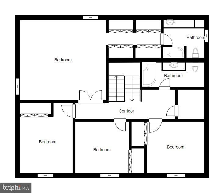 Upper Level Floor Plan - 1113 JOHN PAUL JONES DR, STAFFORD