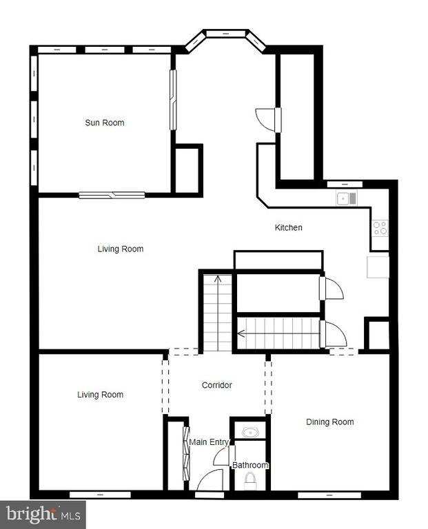 First Floor Floor Plan - 1113 JOHN PAUL JONES DR, STAFFORD