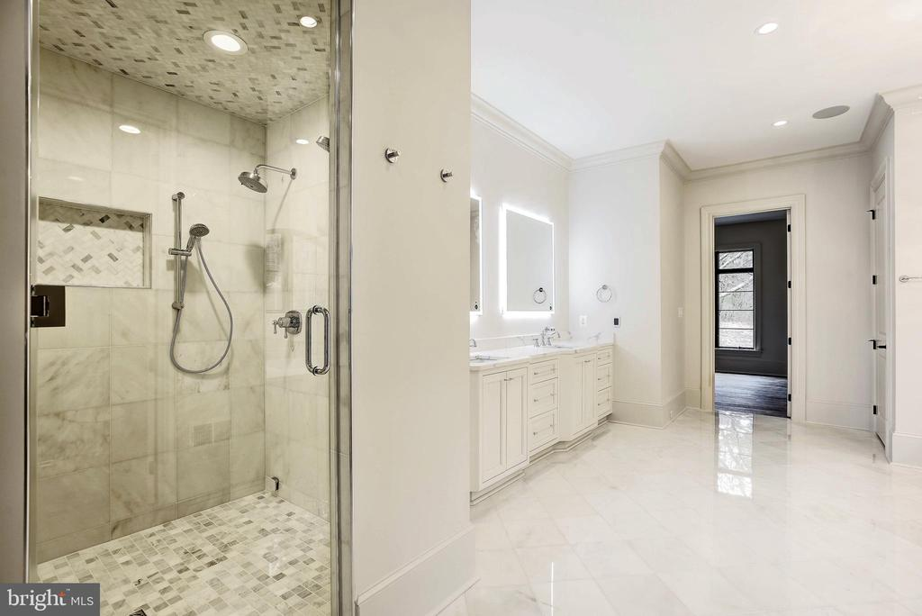 Luxury Steam shower and yes, radiant heat floors - 22501 CREIGHTON FARMS DR, LEESBURG