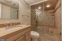 Basement Full Bathroom w/steamer - 6108 NEILWOOD DR, NORTH BETHESDA