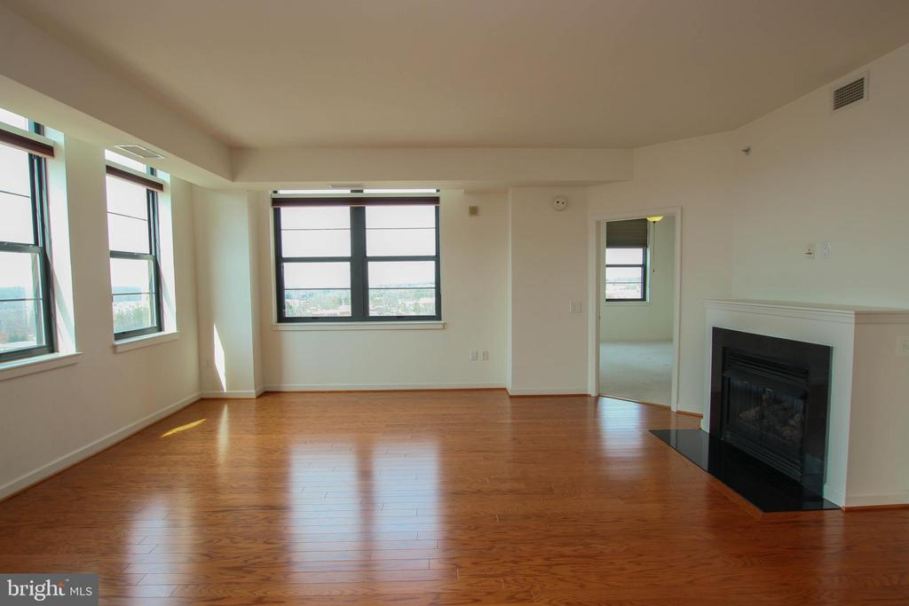 Gleaming hardwood floors and cozy gas fireplace - 1830 FOUNTAIN DR #1001, RESTON