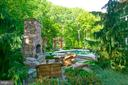 Backyard Oasis with fireplace and pool - 7826 SWINKS MILL CT, MCLEAN