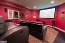 Enclosed, custom Media Room - 17160 SPRING CREEK LN, LEESBURG