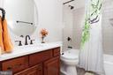 Newly-updated full bathroom joins Bonus/Bed Room - 17160 SPRING CREEK LN, LEESBURG