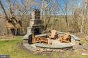 See stone outdoor entertainment area + fireplace - 17160 SPRING CREEK LN, LEESBURG