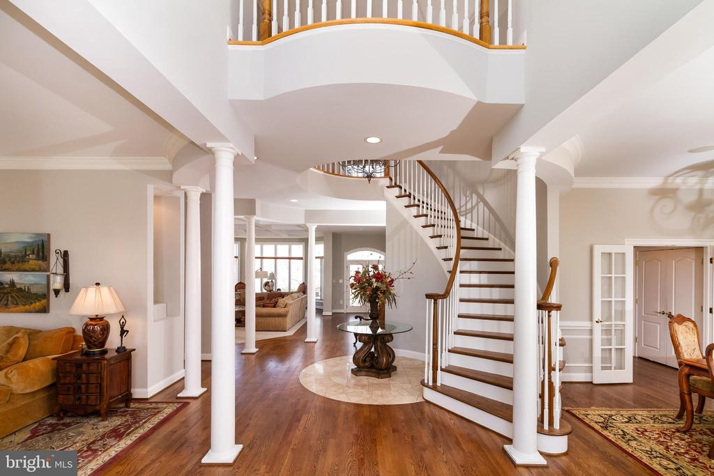 Gorgeous foyer has newly-refinished floors - 17160 SPRING CREEK LN, LEESBURG