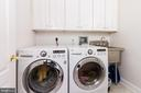 Laundry room has new sink, built-ins and flooring - 17160 SPRING CREEK LN, LEESBURG
