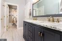 3rd updated bathroom joining 2 bedrooms uptairs - 17160 SPRING CREEK LN, LEESBURG