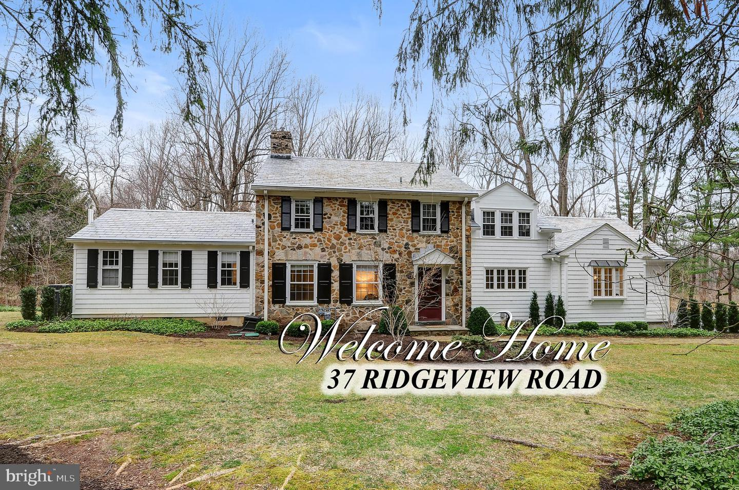 Single Family Home for Sale at 37 RIDGEVIEW ROAD Princeton, New Jersey 08540 United StatesMunicipality: Princeton