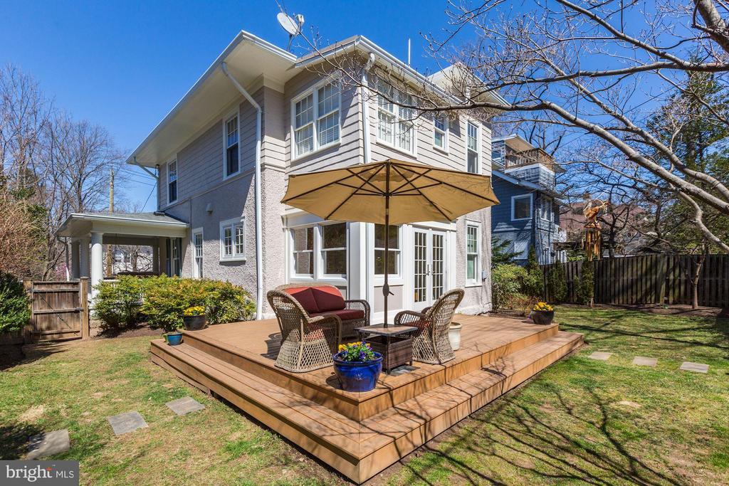 Backyard with Patio - 3906 INGOMAR ST NW, WASHINGTON