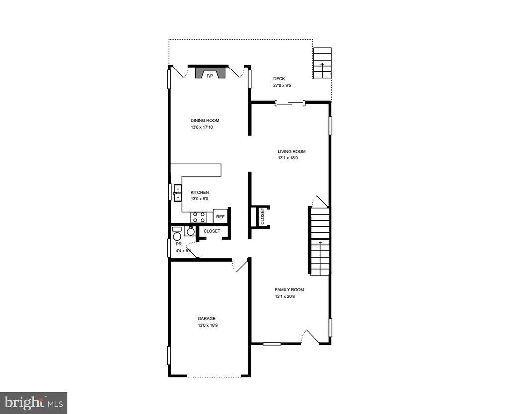 Floor Plan - Main Level - 3514 7TH ST N, ARLINGTON
