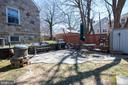 Side yard currently used as bbq area - 4348 ELLICOTT ST NW, WASHINGTON